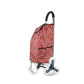 XAJGW Carretilla de Compras Plegable, 3 Ruedas, Carro para Subir escaleras con diseño Plegable, Capacidad máxima 40L (Color : Style E): Amazon.es: Hogar