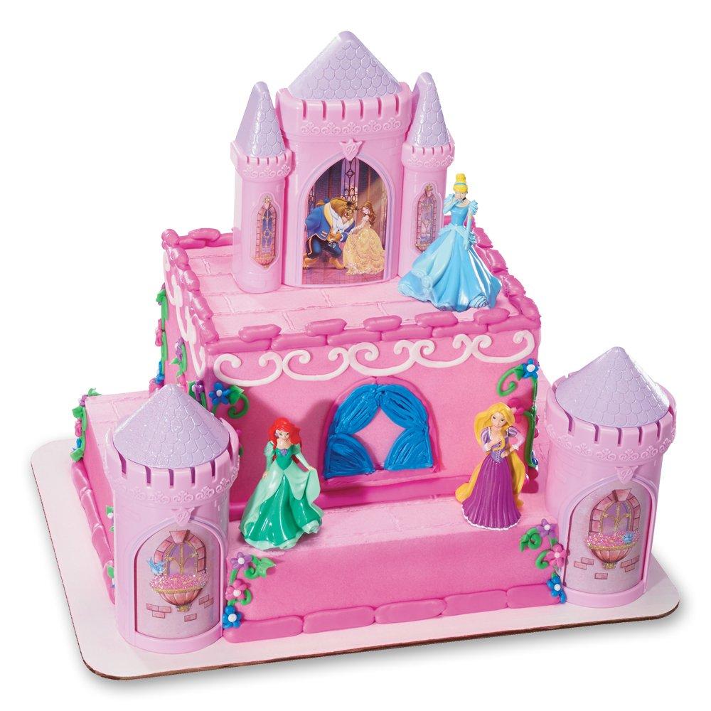 DecoPac Disney Princess Happily Ever After Signature DecoSet Cake Topper, 4.8'' L x 2.5'' W x 6'' H, Pink by DecoPac