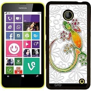 Funda para Nokia Lumia 630 - Gecko Arte Tribal Floral by BluedarkArt
