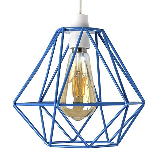metallic pendant lighting design discoveries. Retro Style Blue Metal Basket Cage Ceiling Pendant Light Shade Metallic Lighting Design Discoveries A
