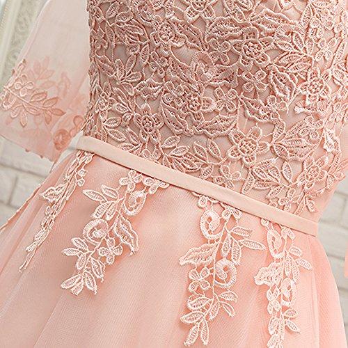 Damen Empire Kleid Rose beige champagnerfarben Drasawee dC8xOqnd
