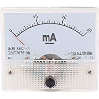 uxcell Analog Current Panel Meter DC 0-30mA 85C1 Ammeter 65x47x57mm for Automotive Circuit Testing Charging Battery…
