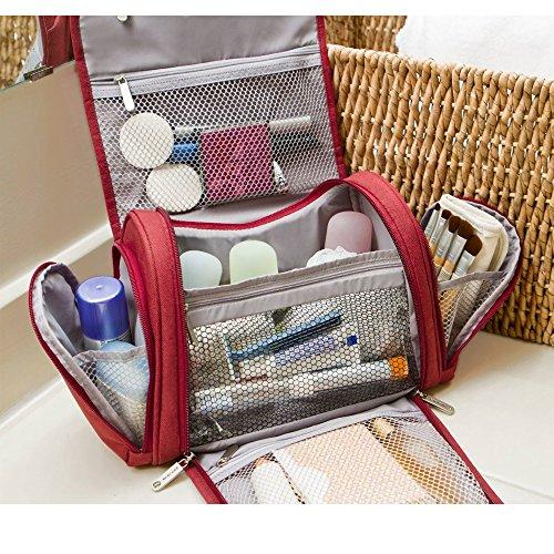 Travelon Hanging Toiletry Kit Travel Organizer Accessory Cosmetic Shaving Bag Rd
