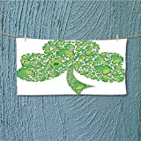 SCOCICI1588 quick dry towel Irish Shamrock Figure Made with Small Crs Holy Lightweight, High Absorbency L39.4 x W9.8 INCH