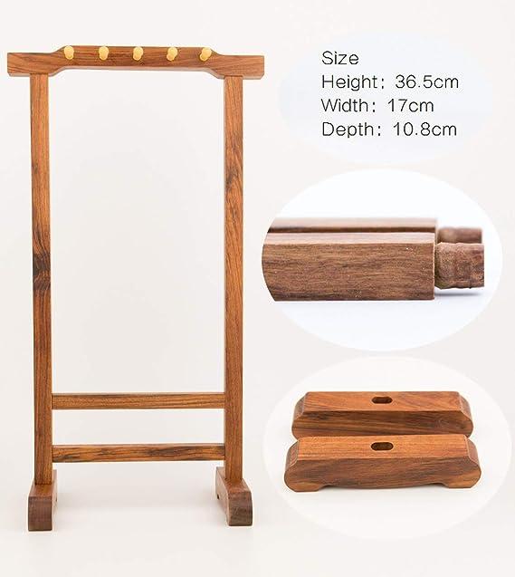 Amazon.com: Qiming Wenfang - Perchero de madera de sándalo ...