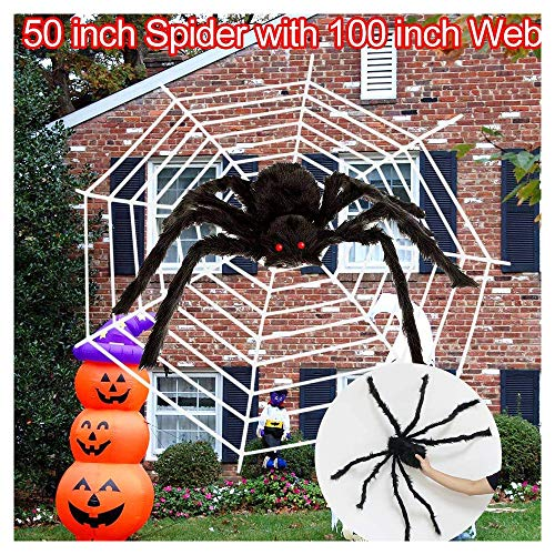 2pcs Spider Web Halloween Spider Decorations Calans Halloween