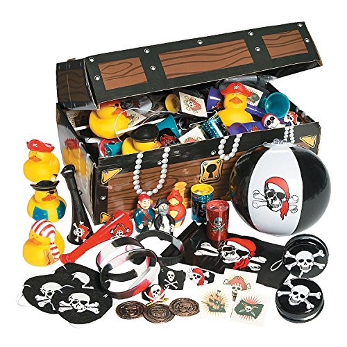 (Fun Express Pirate Treasure Chest and Bulk Toy Assortment (100 Pieces))