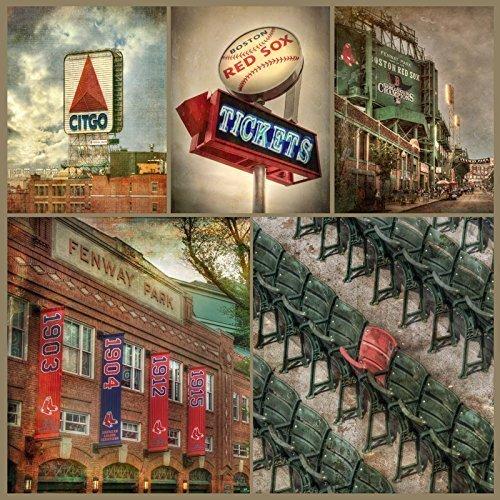 Fenway Park Photo Collage, Boston Red Sox Print, Fenway Park Canvas, Boston Sports Wall Decor by Boston New England Photo Art