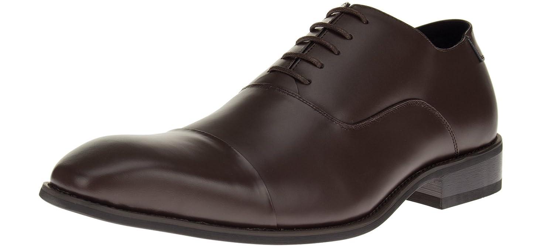 a7c2d1223dc Designer Leather Mens Oxford Shoes Park Avenue Dress Lace-Up Cap-toe Z3TC  Brown