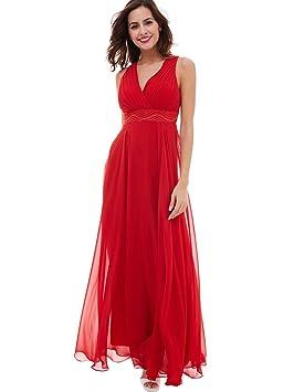 Selighting Vestido Elegante de Boda Fiesta Cóctel para Mujer Dama de Honor Vestido Largo (36