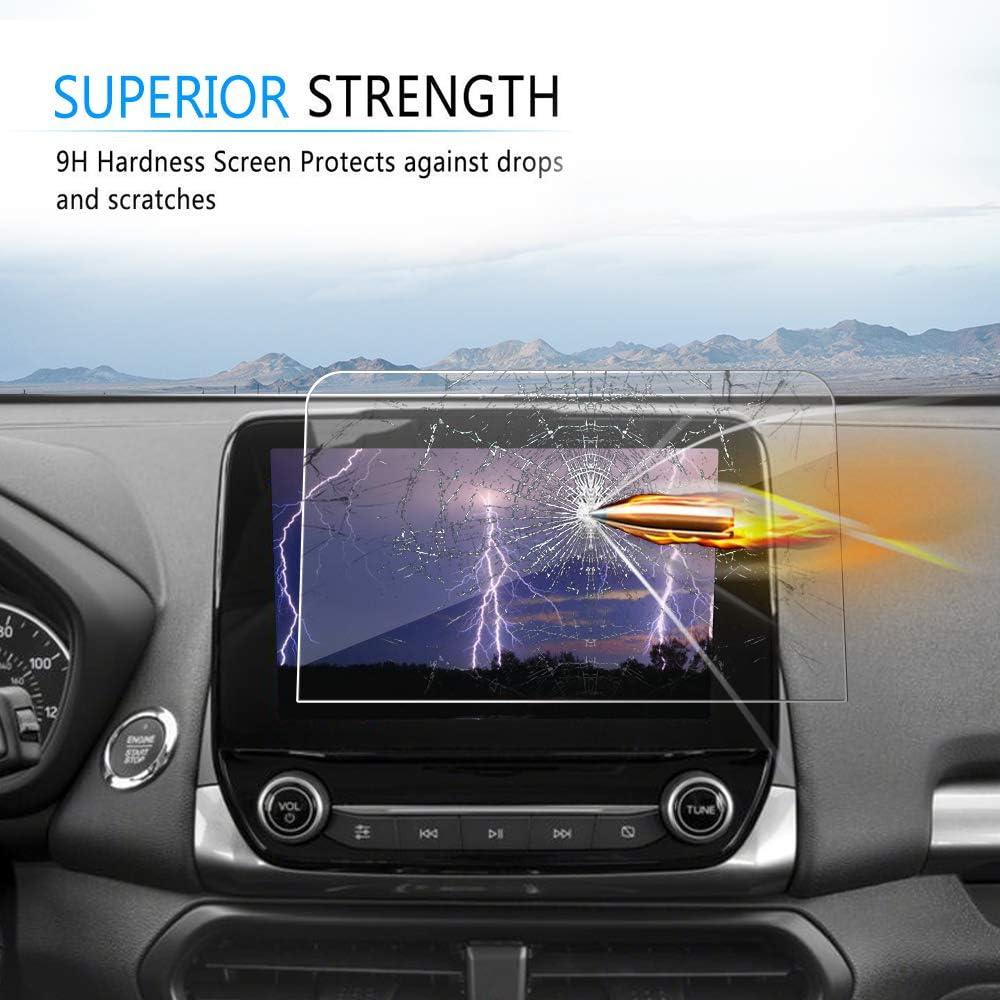 J/&D Compatible pour 2018-2020 Ford Ecosport // 2019-2020 Ford Focus // 2020 Ford Escape 8 inch Navigation de Voiture Protection /écran Verre Tremp/é 1 Pack Protecteur d/'/Écran Clair HD