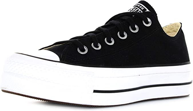 black chunky converse