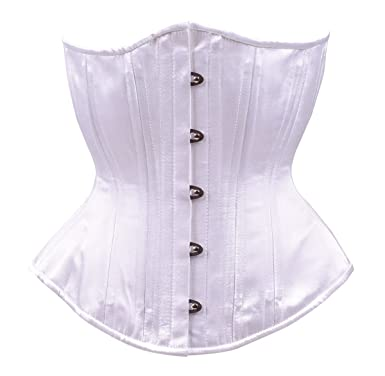 c8d98bc1dad Timeless Trends Womens Steel Boned Waist Training Bridal Corset 20 White