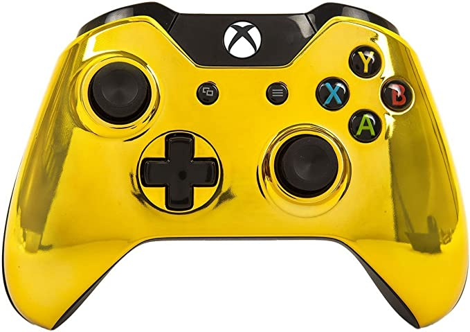 Gold Xbox One Rapid Fire Modded Controller Pro Finish 40 Mods for COD Advanced Warfare, Ghosts