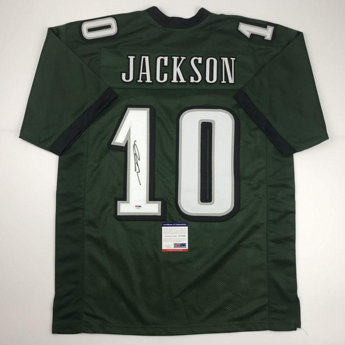 Autographed//Signed DeSean Jackson Philadelphia Green Football Jersey PSA//DNA COA