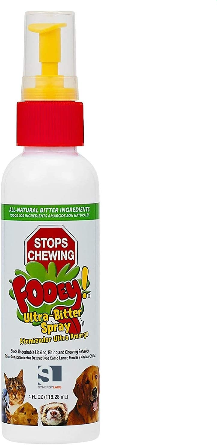 Fooey! Ultra-Bitter Training Aid Spray – Chewing, Biting, Licking Deterrent for Dogs, Cats, Horses, Rabbits, Ferrets, Birds - Safe for Pet's Skin – Can Also Protect Garden from Deer and Pests