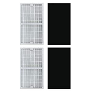 TINGSHAN Replacement Idylis Air Purifier Filters C - 2 Pack Hepa & Carbon Filter Set for Idylis Air Purifiers IAP-10-280, IAP-10-200, Part # IAF-H-100C, IAFH100C