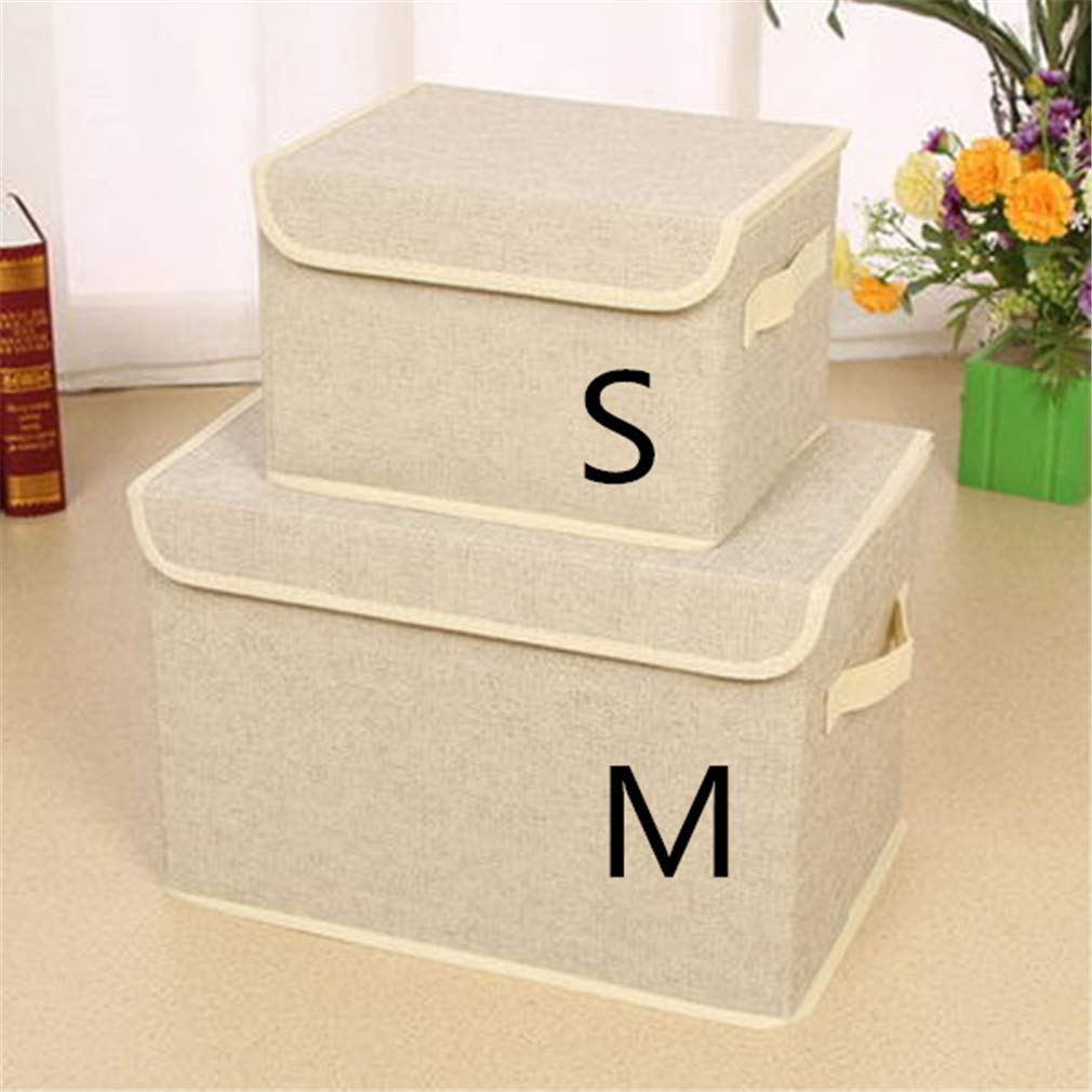 VADOLY Non-Woven Foldable Underwear Box Socks Storage Organizer Cosmetics Toy Finishing Container