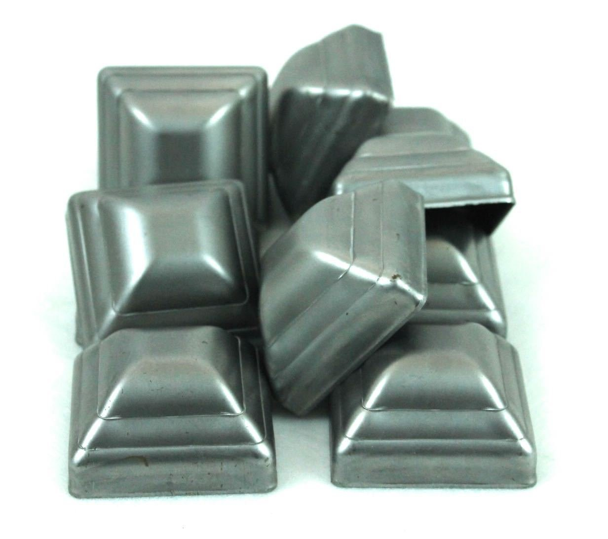 2'' Pressed Steel Post Caps For Square Steel Posts (Lot of 20 Caps)