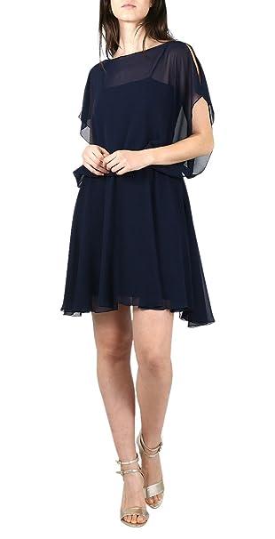 One Gas, Vestido de Fiesta para Mujer, Azul (Azul Marino), 42