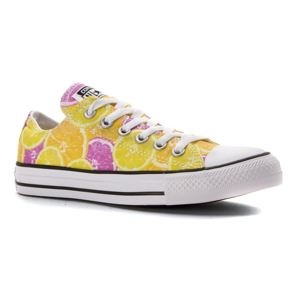 Converse AS Hi Can charcoal 1J793 Unisex-Erwachsene Sneaker  Medium / 7 US Women / 5 US Men|Yellow/Orange/Pink