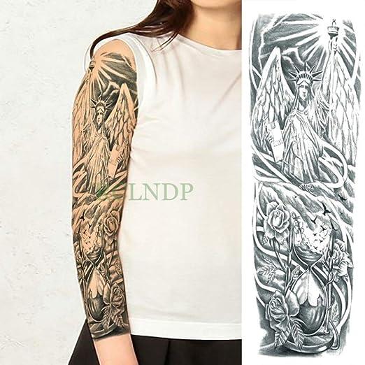 ljmljm 3 Piezas Impermeable Tatuaje Pegatina Calavera Chica Reloj ...