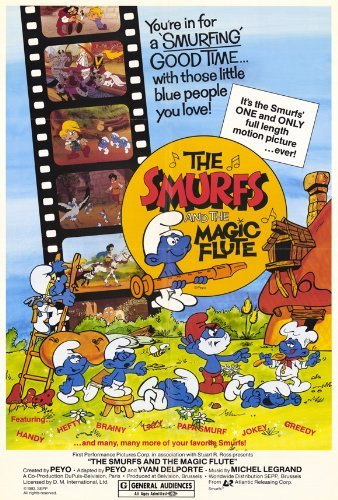 The Smurfs and the Magic Flute Poster Movie 1983