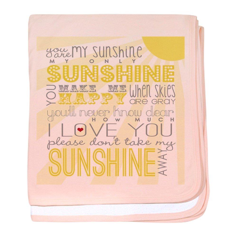 CafePress – sunshine11 – スーパーソフトベビー毛布、新生児おくるみ ピンク 13637204486832E  ペタルピンク B01LIQRDN6