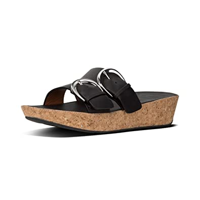 6def7326d FitFlop Women s Duo-Buckle Slide Sandals-Leather