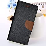 Qzey Wallet Style Flip Cover for Samsung Galaxy J1 Ace - Brown