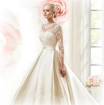 HAPPYMOODVestidos de novia Vestido de novia Fiesta Mujer Nupcial Vestidos de novia Elegante La longitud del