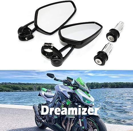 Dreamizer 7 8 22mm Motorrad Lenkerend Spiegel Motorrad Rückspiegel Für Z1000 Er6n Er6f Mt01 Mt03 Fz6 Gsf1250 Gsf600 Monster M696 Auto