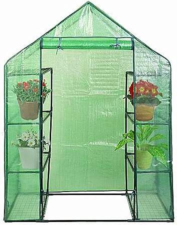 4-Tier Walk In Greenhouse PVC Plastic Garden Grow Green House Outdoor 4 Shelves
