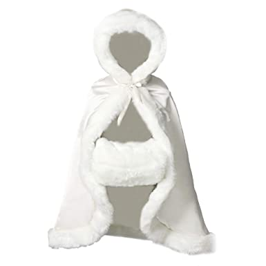 4dc1dff98 Amazon.com  BEAUTELICATE Flower Girl Cape Winter Wedding Cloak for ...