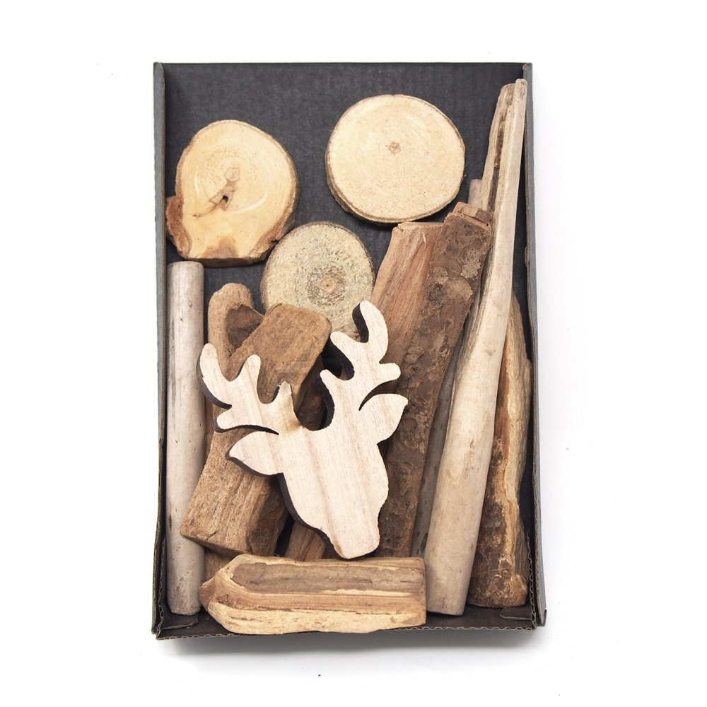Homeford Decorative Bowl Vase Filler Wood Shapes (Deer)