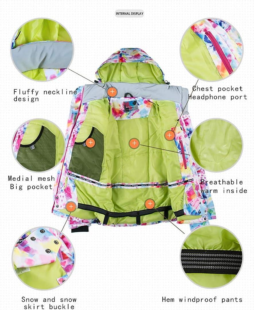 Phlpsee New Womens Ski Suit Windproof Waterproof Breathable Winter Pants Hiking Snow Suit Sets Snowboard Jacket