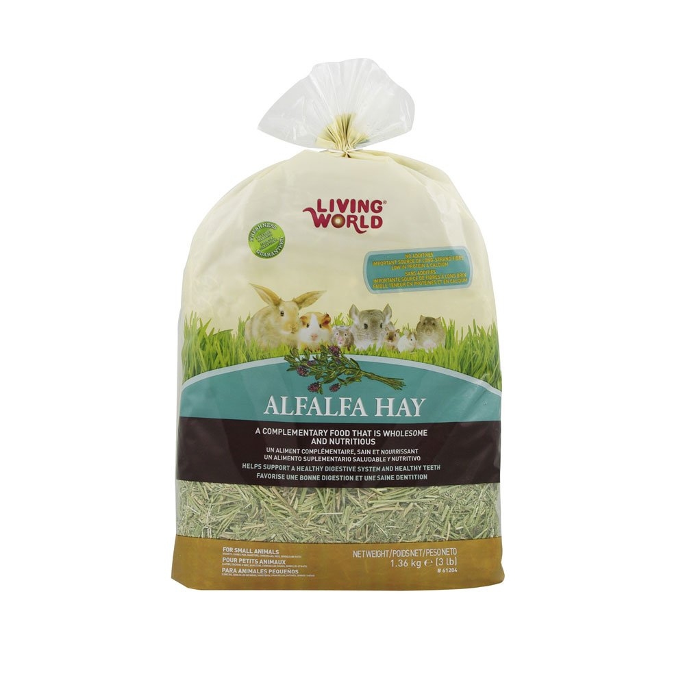 Living World 61204 Alfalfa Hay Extra Large Size, 1.36kg (3-Pound)