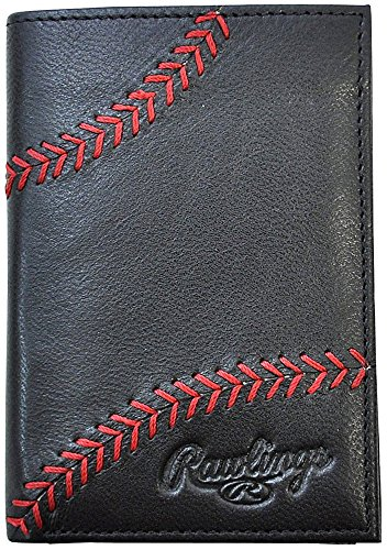 Rawlings Men's Baseball Stitch Front Pocket with Magnetic Clip, Black