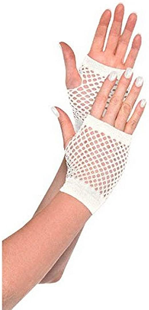 Party Accessory Amscan Fishnet Long Gloves Yellow