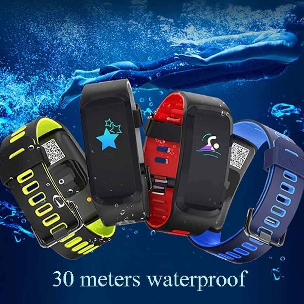 CNWATH Intelligente wristband impermeabile attività Fitness Tracker orologio con cardiofrequenzimetro sonno Tracker Calorie Counter contapassi intelligente Watch, Blue