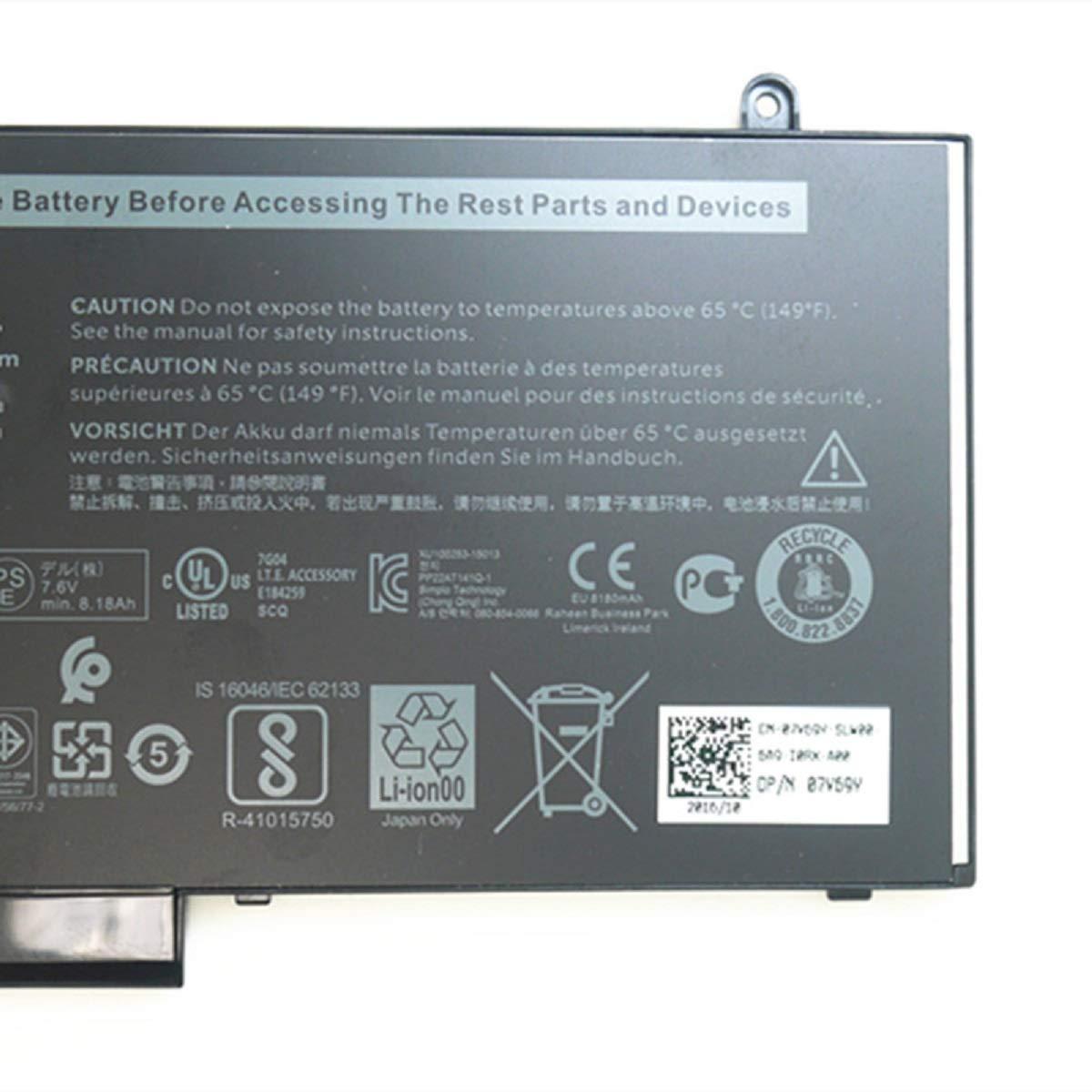 Dentsing 62Wh 6MT4T Battery for Dell Latitude E5470 E5570 Precision 3510 0HK6DV 079VRK TXF9M 0TXF9M by Dentsing (Image #4)