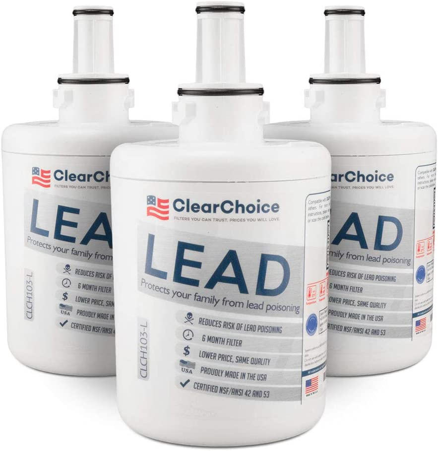 Clear Choice Replacement for DA29-00003G Refrigerator Water Filter Compatible with DA97-06317A DA29-00003A DA29-00003 NSF//ANSI 42 Certified Box of 2 Made in the USA