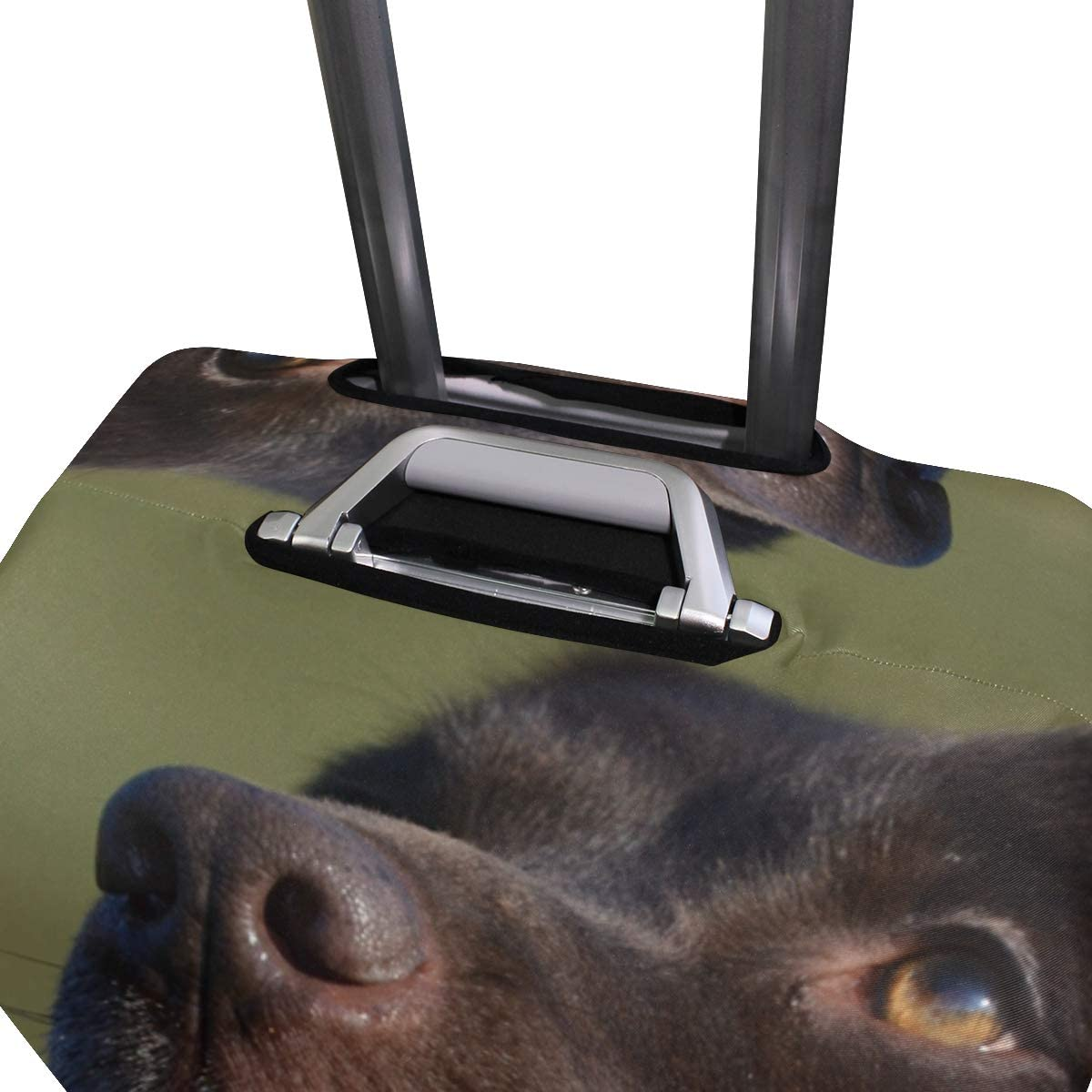 Travel Luggage Cover Happy Black Labrador Love Dog Suitcase Protector