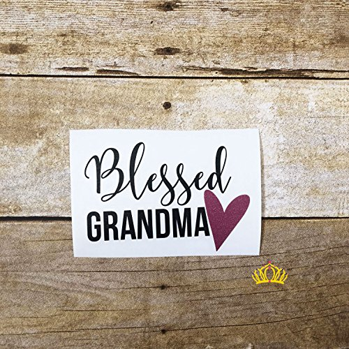 Blessed Grandma with Heart Vinyl Decal for Mom - Sticker for Car, Yeti Cup, or Laptop 3
