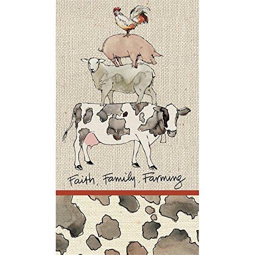 Cypress Home Farm Life Paper Guest Towel, 15 - Shops Gardens Pembroke