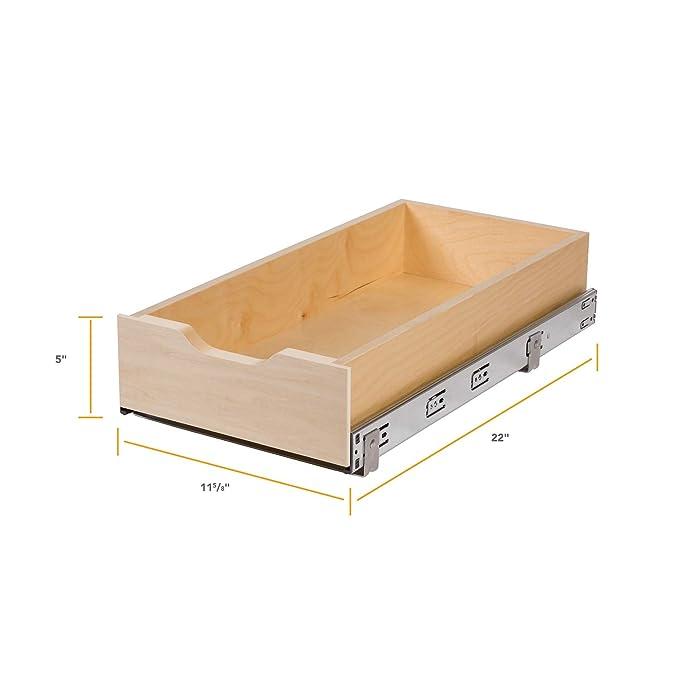 Amazon.com: Knape & Vogt - Cajonera de madera con cierre ...