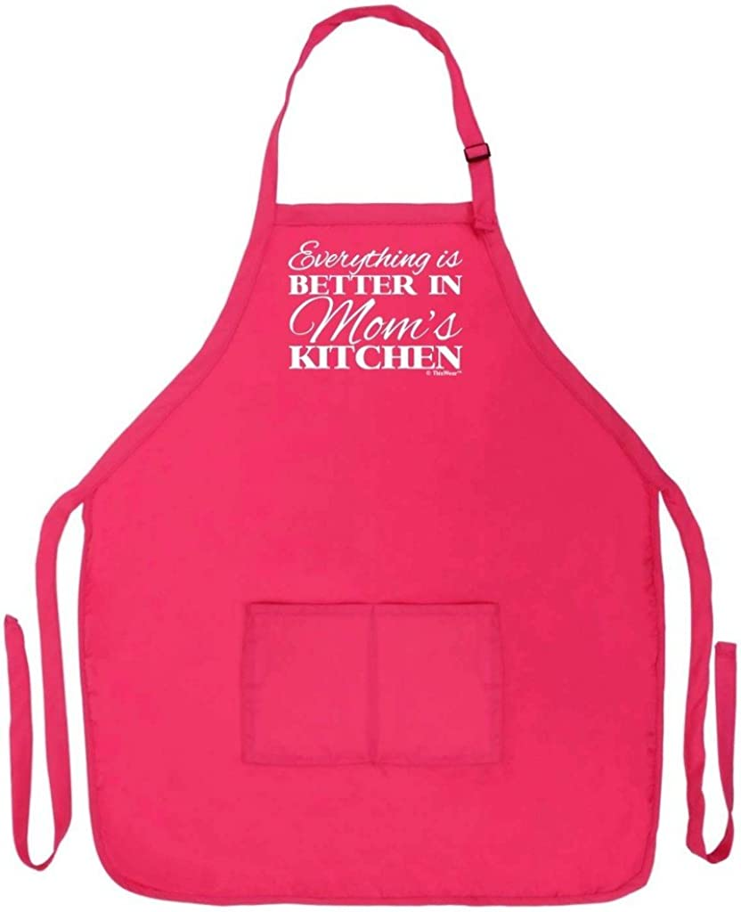 Kitchen apron happy birthday mom gift love for a mother super cooker