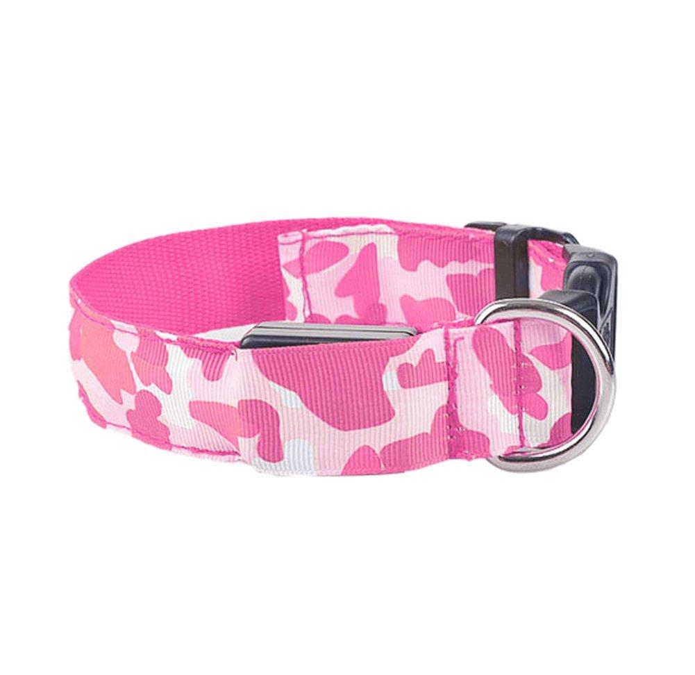 Da. WA Fashion diseñ o de camuflaje Pet Nylon correa cuerda cinturó n LED intermitente perro arné s seguridad plomo luz mascota suministros Da.Wa
