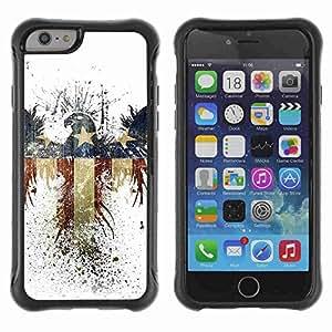 "A-type Arte & diseño Anti-Slip Shockproof TPU Fundas Cover Cubre Case para 4.7"" iPhone 6 ( America Eagle Flag )"