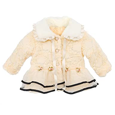 e456b2b0c TOOGOO(R) Baby Kids Toddlers Girls Faux Fur Fleece Lined Coat Kids ...